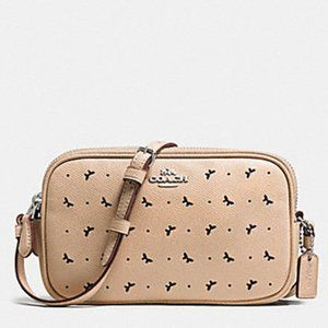 Coach Crossbody Pouch Crossgrain Leather Bag